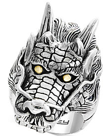 EFFY® Men's Dragon Ring in Sterling Silver & 18k Gold
