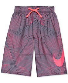 "Nike Printed 8"" Volley Swim Trunks, Little Boys & Big Boys"