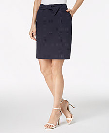 Anne Klein Printed Bow-Front Skirt