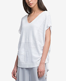 DKNY V-Neck Drawstring T-Shirt