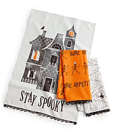 Martha Stewart Collection 3-Pc. Spooky Kitchen Towel Set, Created for Macy's