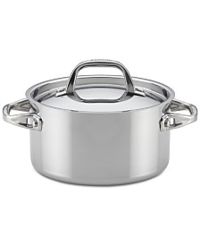 Anolon Tri-Ply Clad Stainless Steel 3.5-Qt. Saucepot & Lid