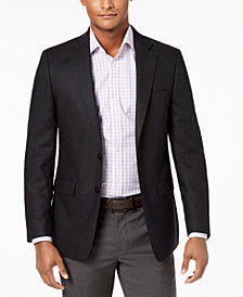 Calvin Klein Men's Slim-Fit Charcoal Neat Sport Coat