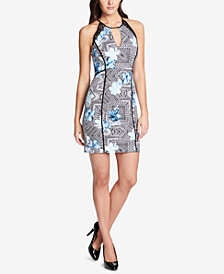 GUESS Geometric Illusion Bodycon Dress