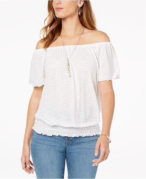 976d43c2ab50 ... Style & Co Convertible Off-The-Shoulder Top, Created for Macy's ...