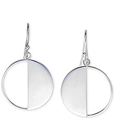 Unwritten Half Circle Drop Earrings in Sterling Silver