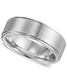 Triton Men's Cobalt Ring, Comfort Fit Wedding Band