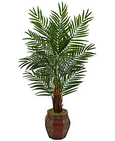 Nearly Natural 5' Areca Palm Artificial Tree in Mixed-Pattern Planter