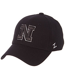 Zephyr Nebraska Cornhuskers Black/White Stretch Cap