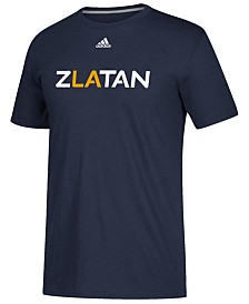 adidas Men's Zlatan Ibrahimovic LA Galaxy Player Name Logo T-Shirt