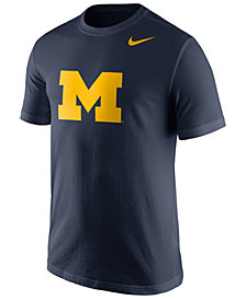 Nike Men's Michigan Wolverines Cotton Logo T-Shirt