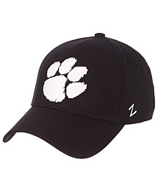 Zephyr Clemson Tigers Black/White Stretch Cap