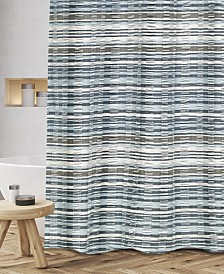 "Popular Bath Charisma Cotton Textured Stripe 72"" x 72"" Shower Curtain"