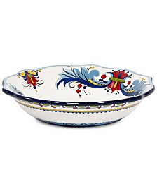 Tabletops Unlimited San Marino Italian Blue Pasta Bowl