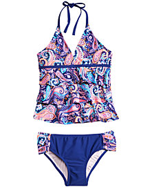 Summer Crush Big Girls 2-Pc. Printed Tankini Swimsuit