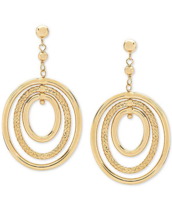 Macy's Oval Orbital Drop Earrings in 10k Gold