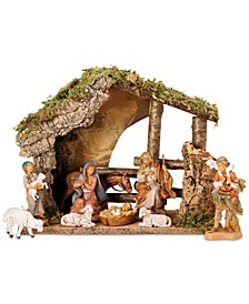 Fontanini 9-Pc. Figural Stable Nativity Set