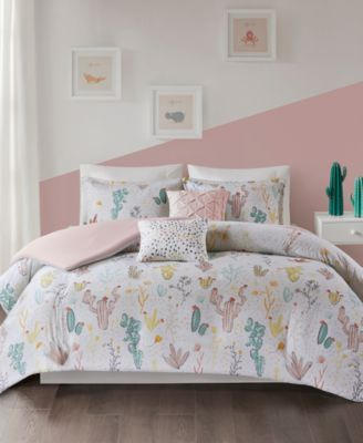 Desert Bloom 4-Pc. Twin/Twin XL Cotton Duvet Cover Set