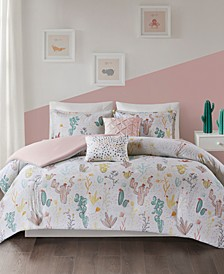Desert Bloom 5-Pc. Full/Queen Cotton Duvet Cover Set