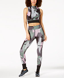 Puma Chase Cropped Half-Zip Tank Top & Leggings