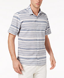 Tommy Bahama Men's Raya Space-Dyed Stripe Camp Shirt