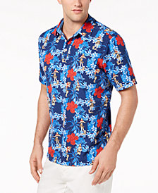 Tommy Bahama Men's Hula Holidays IslandZone UPF 30 Moisture-Wicking Tropical-Print Stretch Polo