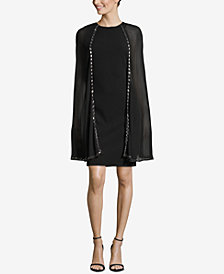 Besty & Adam Petite Embellished Cape Dress