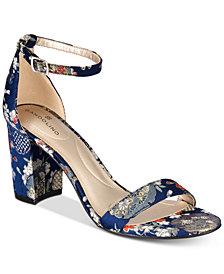 Bandolino Armory Two-Piece Block Heel Sandals