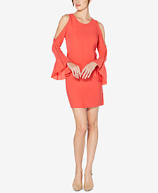 Laundry by Shelli Segal Cold-Shoulder Bell-Sleeve Dress