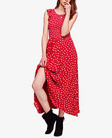 Free People Polka-Dot Cotton Midi Dress