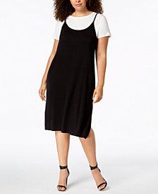 Calvin Klein Plus Size Layered-Look Dress