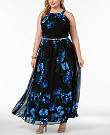 I.N.C. Plus Size Halter A-Line Maxi Dress, Created for Macy's