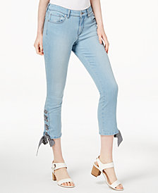 Maison Jules Laceup Ankle Jeans, Created for Macy's