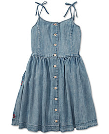 Polo Ralph Lauren Big Girls Buttoned Cotton Denim Dress