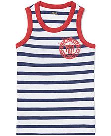 Polo Ralph Lauren Cotton Jersey Graphic Tank Top, Little Boys