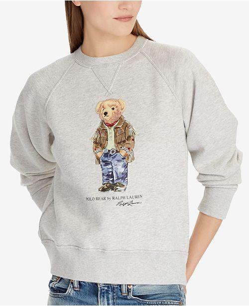 Reviews Polo Bear Fleece Women Lauren Ralph Tops Pulloveramp; QCEeWrdxBo
