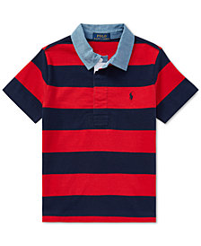 Polo Ralph Lauren Toddler Boys Striped Cotton Jersey Rugby Shirt