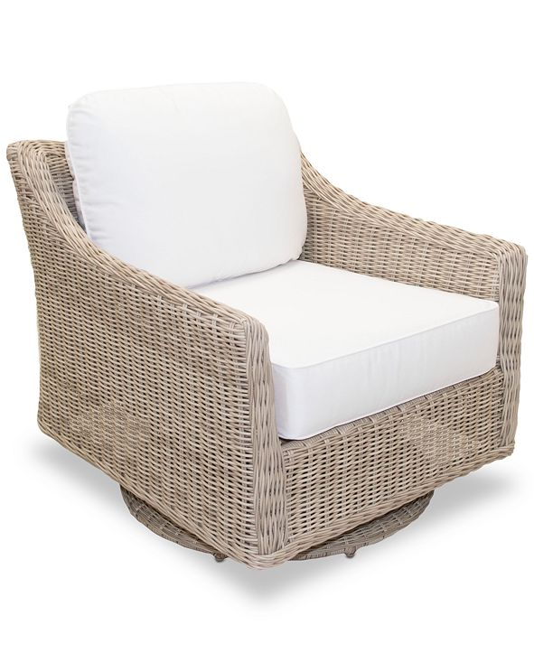 Furniture Willough Outdoor Swivel Glider, with Sunbrella® Cushions, Created for Macy's