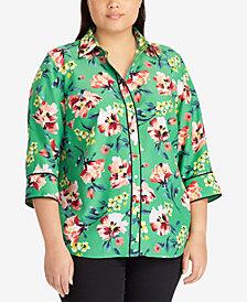 Lauren Ralph Lauren Plus Size Floral-Print Shirt