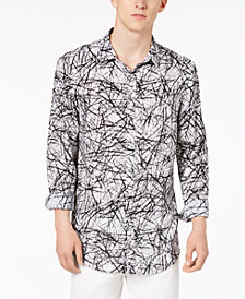 I.N.C. Men's Cross-Hatch Roll-Tab Shirt, Only at Macy's