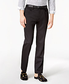 I.N.C. Men's Shiny Slim-Fit Stretch Pants, Created for Macy's