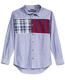 Tommy Hilfiger Little Boys Josh Denim & Plaid Cotton Shirt