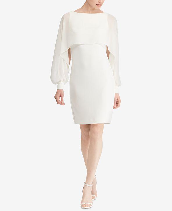 Lauren Ralph Lauren Georgette-Overlay Dress