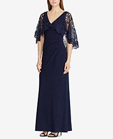 Lauren Ralph Lauren Lace-Overlay Gown