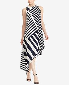 Lauren Ralph Lauren Striped Asymmetrical Dress
