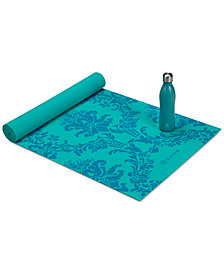 Gaiam Keep Your Cool Yoga Mat & Bottle Kit