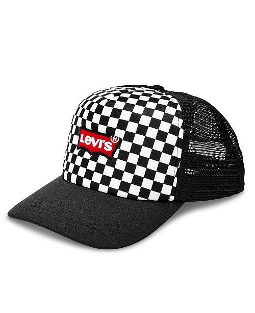 04f21a4b856 Levi s Men s Checkered Trucker Hat - Hats