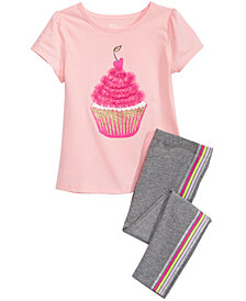 Epic Threads Little Girls T-Shirt & Leggings, Created for Macy's