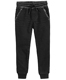 Epic Threads Little Boys Faux-Leather Trim Jogger Pants, Created for Macy's