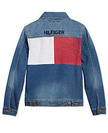 Tommy Hilfiger Big Boys Dean Knit Denim Jacket